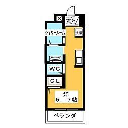 AALii 2階ワンルームの間取り