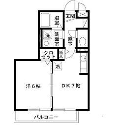 ベァーフルート深井 B棟[2階]の間取り