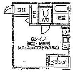 レオン天神橋[2階]の間取り