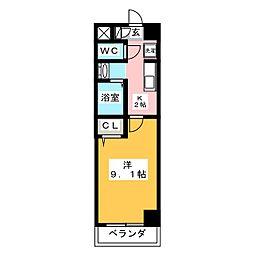 コ・ライオン03[1階]の間取り