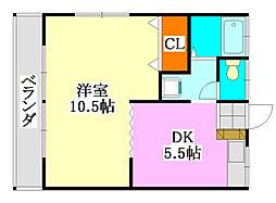 カーサフジサキ[103号室]の間取り