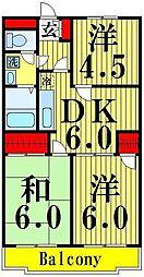 東京都足立区鹿浜6丁目の賃貸マンションの間取り