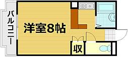 ミナール一里山[4階]の間取り
