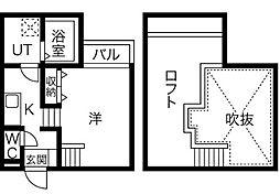 Creo庄内通六番館[2階]の間取り
