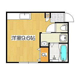 鴨戸ハイツ[2階]の間取り