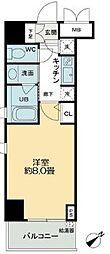 QC Flat北堀江[2階]の間取り
