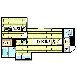 こぉぽらす31[3階]の間取り