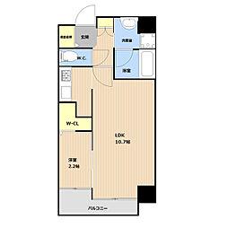 (仮称)平和3丁目マンション 5階1LDKの間取り