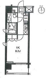 芝ウエスト[6階]の間取り