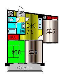 T's garden蕨II[6階]の間取り