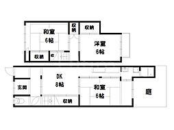 東鷹司町貸家[1階]の間取り