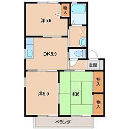 グランディールNT[2階]の間取り