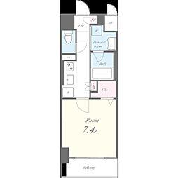 名古屋市営東山線 池下駅 徒歩9分の賃貸マンション 3階1Kの間取り