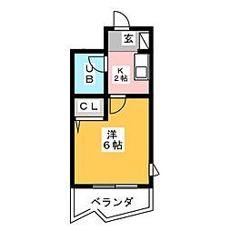 メゾン・ド・フォレット[4階]の間取り