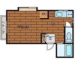 パークアベニュー南台[1階]の間取り