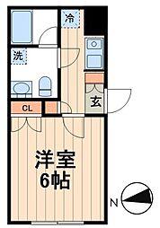 JR京葉線 越中島駅 徒歩3分の賃貸マンション 3階1Kの間取り