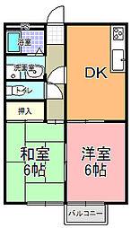 北川ハイツ B棟[102号室]の間取り