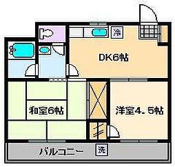 サニーフラット[4階]の間取り