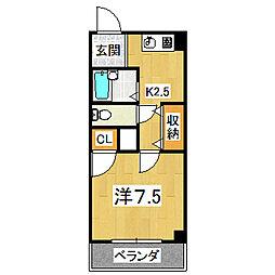 エクセレント日ノ岡[2階]の間取り