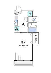 ハイム白雲[5階]の間取り