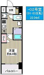 プレミアムコート大正フロント[5階]の間取り