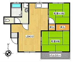 コーポジュネスS1[2階]の間取り