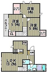 [テラスハウス] 大阪府堺市西区神野町1丁 の賃貸【/】の間取り