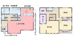[一戸建] 福岡県福岡市西区富士見1丁目 の賃貸【/】の間取り