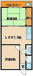 住吉マンション[2階]の間取り