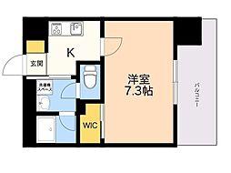 仮称)LANDIC 美野島3丁目 9階1Kの間取り