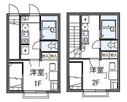 東京都大田区大森南3丁目の賃貸アパートの間取り