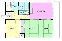 Palazzo Hashimoto 1st[3階]の間取り