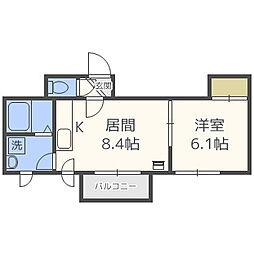 北海道札幌市北区北三十六条西10丁目の賃貸マンションの間取り