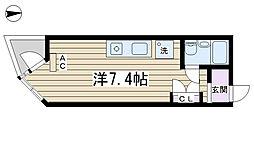 コモド駒込ハイツ[203号室]の間取り