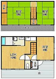 [一戸建] 兵庫県宝塚市米谷2丁目 の賃貸【/】の間取り