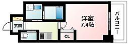 Osaka Metro御堂筋線 江坂駅 徒歩5分の賃貸マンション 11階1Kの間取り