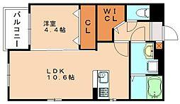エミリア篠栗駅前[3階]の間取り