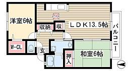ビューステージ香久山[102号室]の間取り