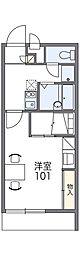 京阪本線 門真市駅 徒歩26分の賃貸マンション 3階1Kの間取り