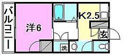 アルト立花[17 号室号室]の間取り