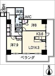 岐阜シティタワー43 スカイアークス 2307号[23階]の間取り
