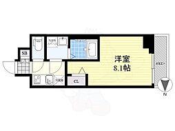 メイクス錦糸町 4階1Kの間取り