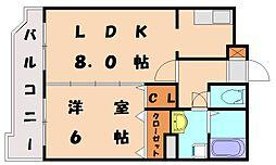 福岡県福岡市東区唐原6丁目の賃貸マンションの間取り