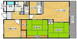 ヌーヴェルハイム[5階]の間取り