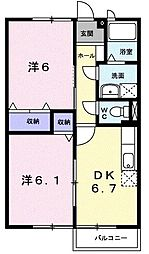 サンハイムIII[0202号室]の間取り