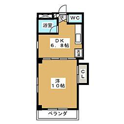 サンワイド・42[2階]の間取り