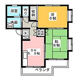 センカハイツII[2階]の間取り