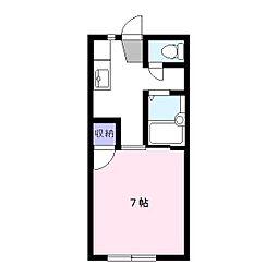 エスプリコート[1階]の間取り