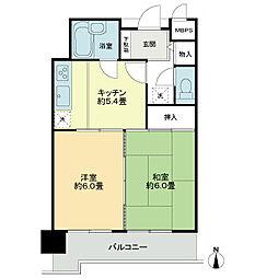 トーカンマンション清水五[4階]の間取り