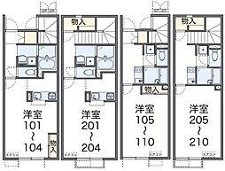 ネクストYAMAZAKI[108号室]の間取り